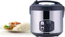 Borosil 1.8-Liters 1800ml Electric Rice Cooker and Steamer