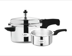 Leo Natura Eco + 3.5 L, 5 L Pressure Cooker (Induction Bottom, Aluminium)