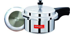 Surya Accent Popular 3 L Pressure Cooker (Induction Bottom, Aluminium)