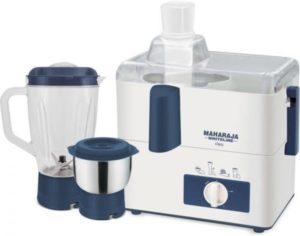 Maharaja Whiteline CLEO (JX-115) 450 W Juicer Mixer Grinder (White, Blue, 2 Jars)