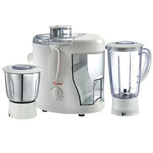 Prestige Champ 550 W Juicer Mixer Grinder (White, 3 Jars)