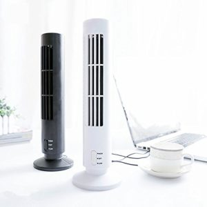 Cpixen Mini USB Bladeless Air Conditioner Cooling Desk Tower Fan