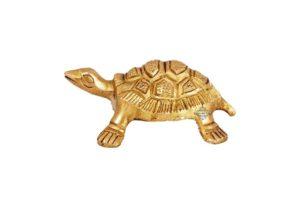 IndianArtVilla Brass Good Luck Tortoise Turtle Miniature