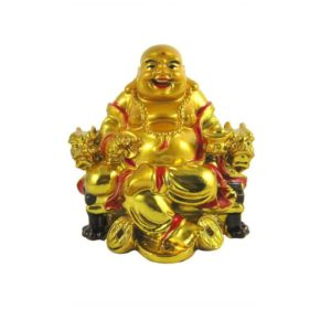 dishabazaar Feng Shui Laughing Buddha Sit On Chair