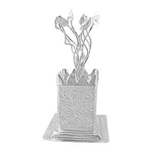 Sri Jagdamba Pearls Silver Tulsi Plant