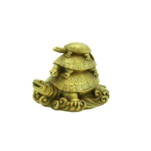 Odishabazar Vastu Feng Shui Three Tiered Tortoises for Longevity Showpiece