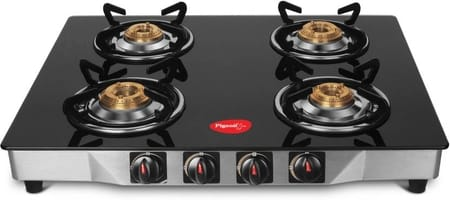 Pigeon Ultra Glass 4 Burner Stainless Steel Gas Stove