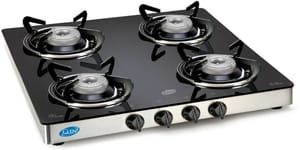 Glen Glass 4 Burner Manual Gas Stove