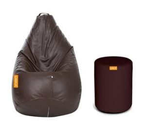 Orka XXL Brown Bean Bag with Beans