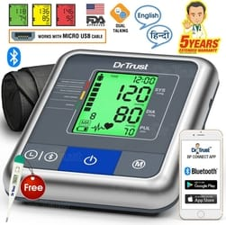 Dr. Trust Automatic Blood Pressure Testing Monitor Bp Monitor