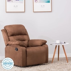 Flipkart Perfect Homes Wayne Single Seater Fabric Recliner