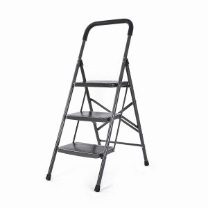 Bathla 3 Step Up Steel Foldable Ladder0