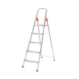 Bathla Advance 5-Step Foldable Aluminium Ladder0