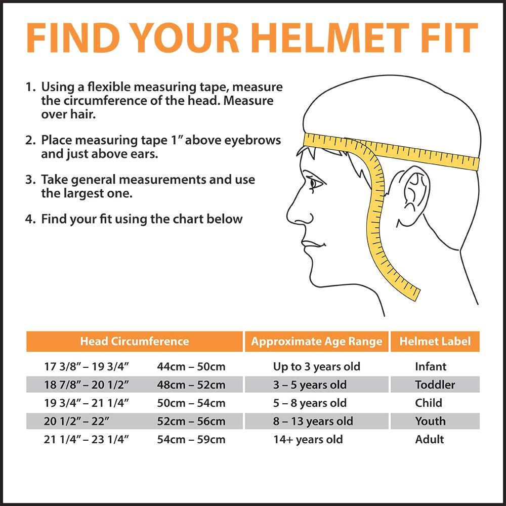 head sizes chart