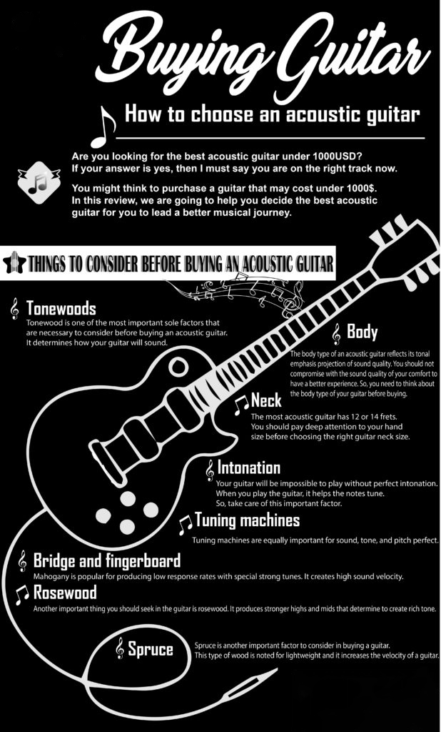 how to choose guitar infographic