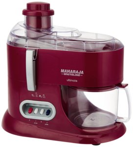 Maharaja Whiteline JMG Ultimate Treasure JX-101 550-Watt Juicer Mixer Grinder (Red)